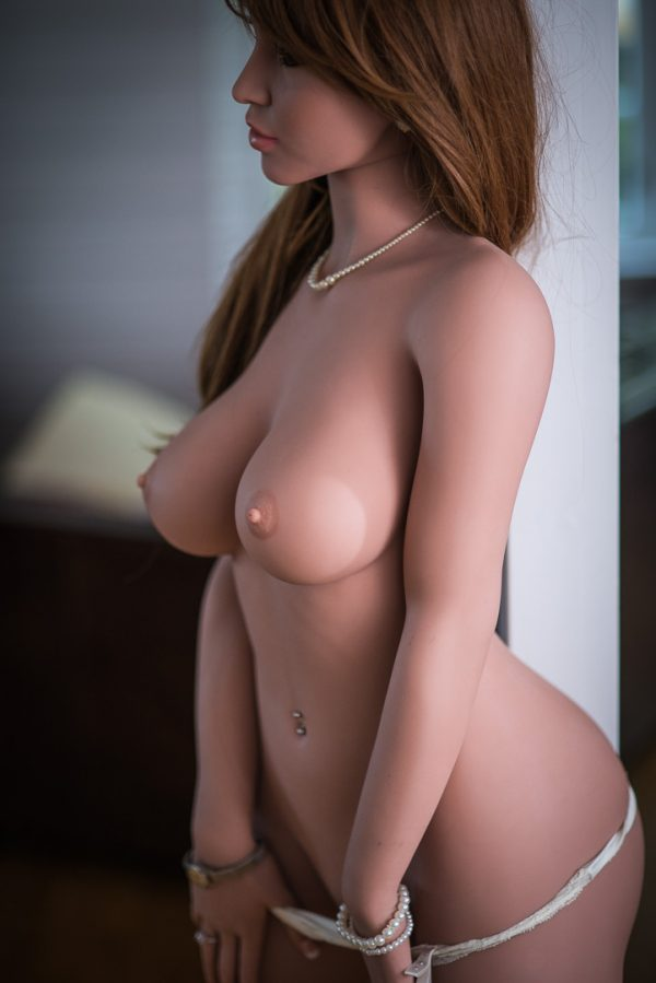 Magenta Dark Hair Sex Doll