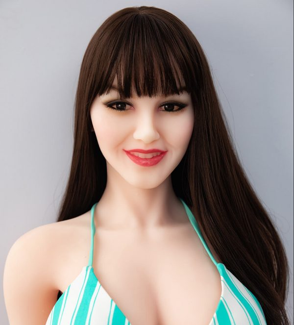 Nell 168cm realistic European sex doll, chest up view