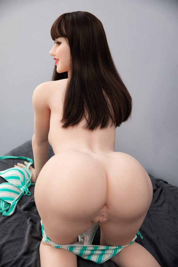 Nell 168cm realistic European sex doll, showing off her behind