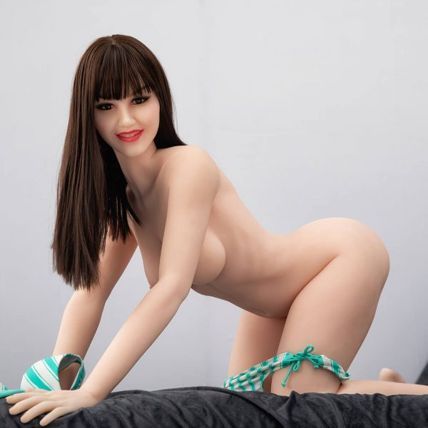 Nell 168cm realistic European sex doll, posing with her panties down and her bra off